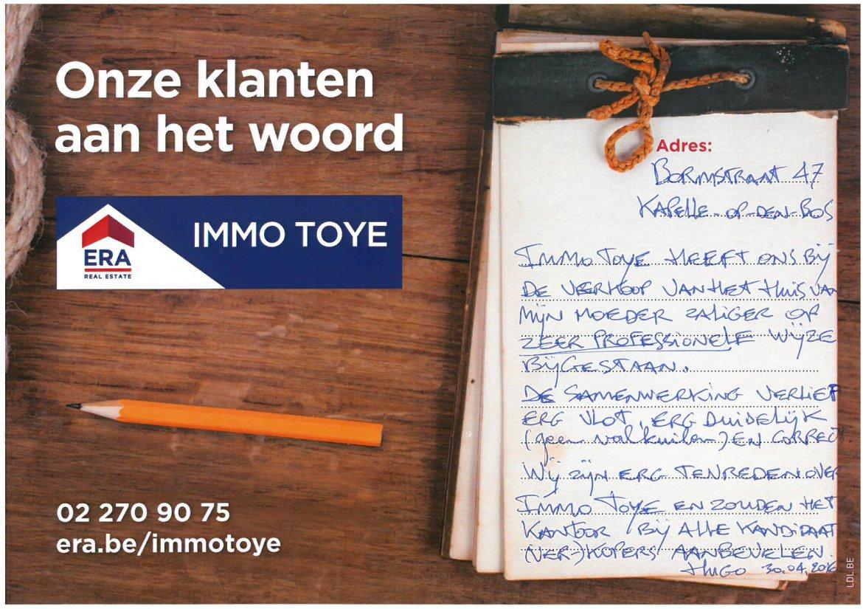 ERA Immo Toye - klanten aan het woord uit Kappele-Op-Den-Bos