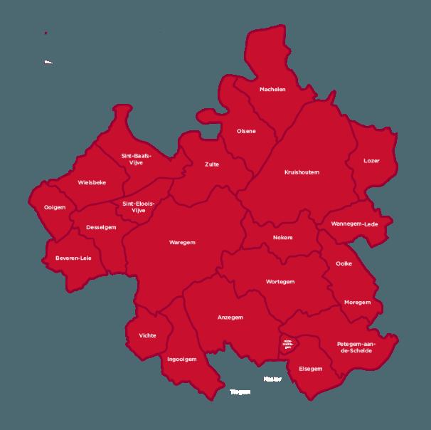 ERA Bossuyt is expert in de regio Waregem, Zulte, Vichte, Wielsbeke, Ooigem, Oeselgem, Kruishoutem, Wortegem, Nokere