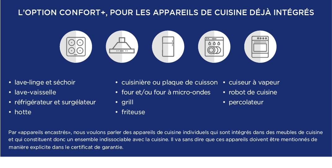 garantie pour les appareils de cuisine