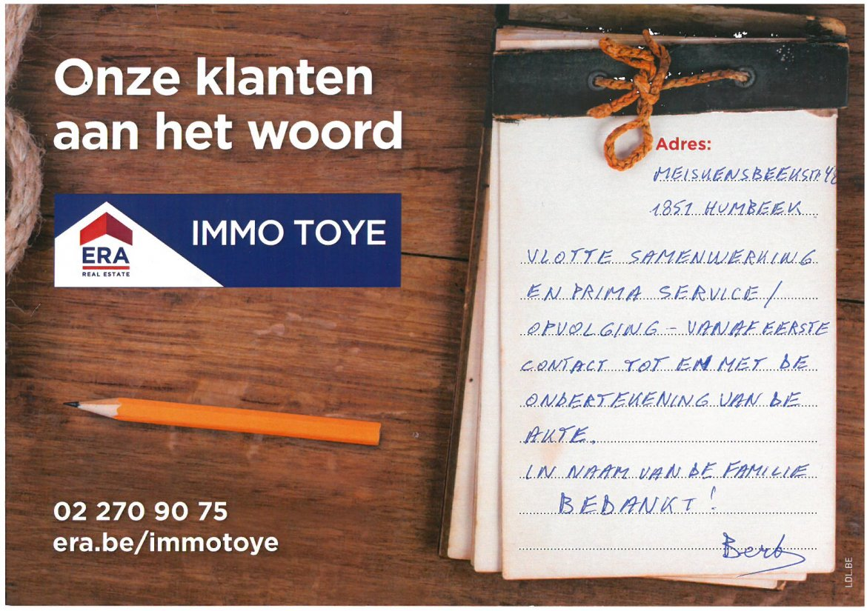 ERA Immo Toye - klanten aan het woord uit Humbeek