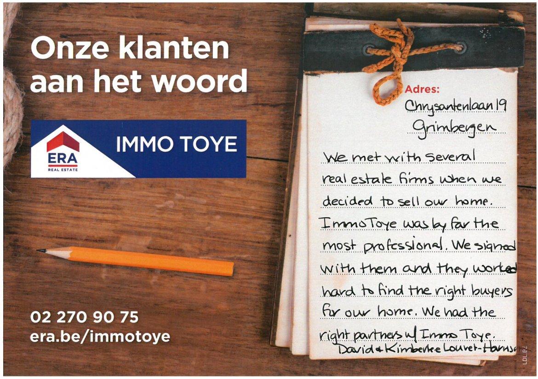 ERA Immo Toye - klanten aan het woord uit Grimbergen