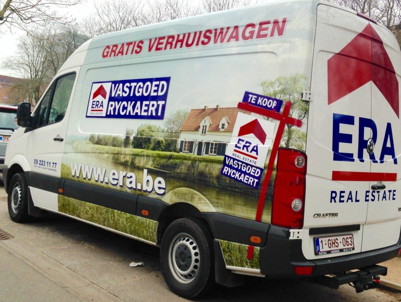 Verhuiswagen ERA Vastgoed Ryckaert