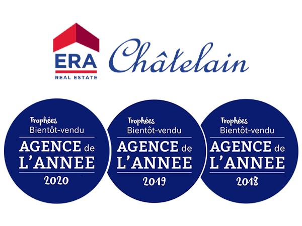 ERA Châtelain Agence de l'année 2020 - Trophée Bientôt Vendu