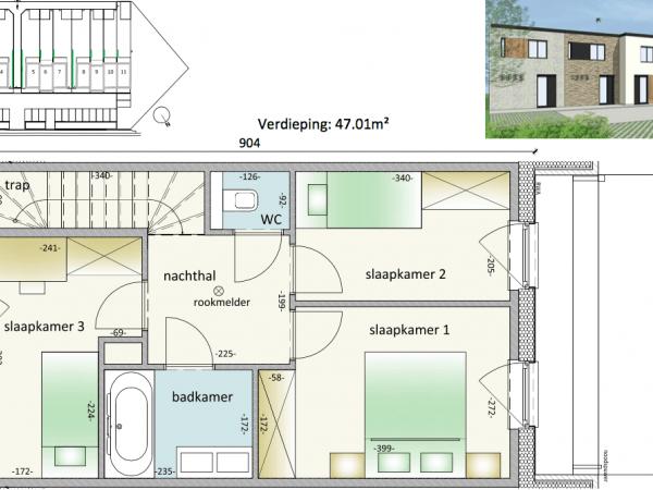 Immo te koop Veurne - gesloten nieuwbouw woning - 1ste verdiep