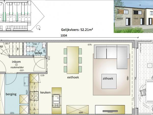 Immo te koop Veurne - gesloten nieuwbouw woning - gelijkvloers