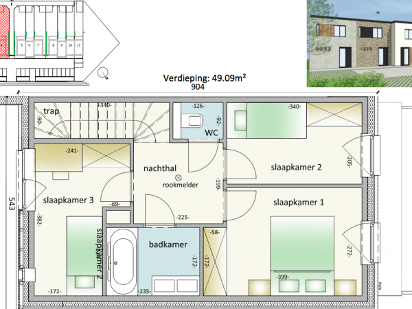 Immo te koop Veurne - half-open nieuwbouw woning - gelijkvloers