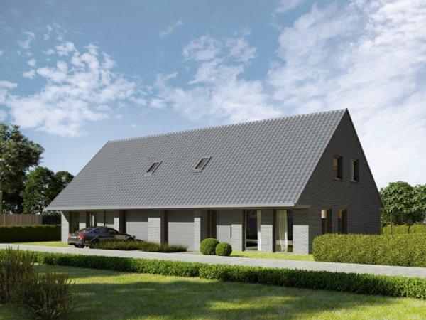 Nieuw te bouwen woningen in de Rupsenstraat in Zwevezele