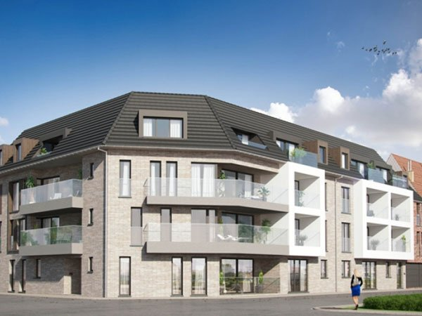 Energiezuinige nieuwbouwappartementen te koopin Tielt: Residentie Valcke