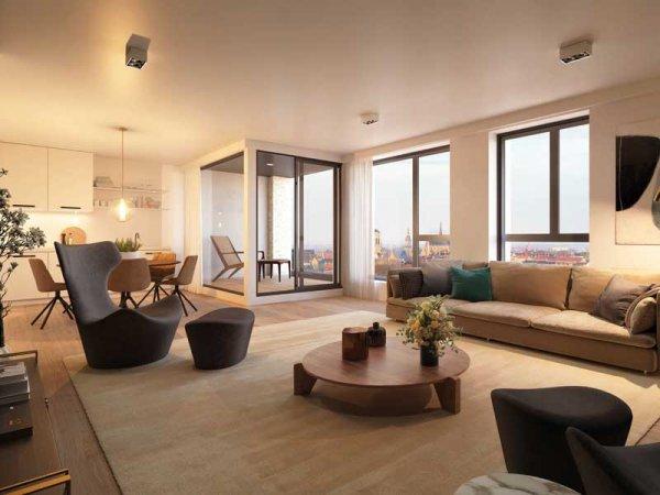 Skyflats Suikerpark - leefruimte appartement - Suikerpark Veurne - penthouse