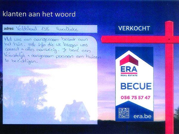 ERA Becue verkoop woning Harelbeke