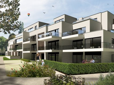 Gelijkvloers appartement met 2 slaapkamers en zicht op tuin