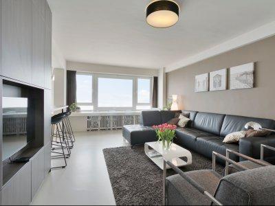 Salon Appartement à vendre avec vue mer sur Zeedijk 152 à 8370 Blankenberge