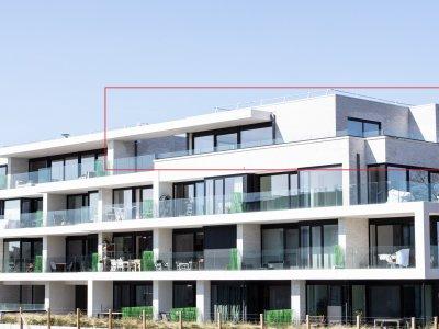Luxe penthouse (141m²) met 2 slpk , bureau en terras (95m²)