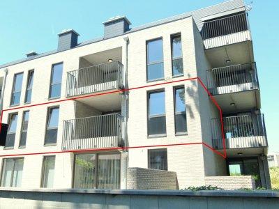 Nieuwbouw-app. met 2 slpk., terras en staanplaats in Halen.