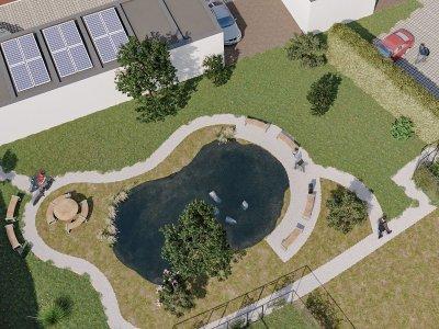 Duplex 1.2 met terras, klein gebouw met binnentuin