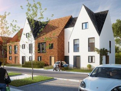 ERA Becue Te koop Nieuwbouwwoningen Langwater te Kortrijk - Kwalitatieve nieuwbouwwoningen met garage en tuin